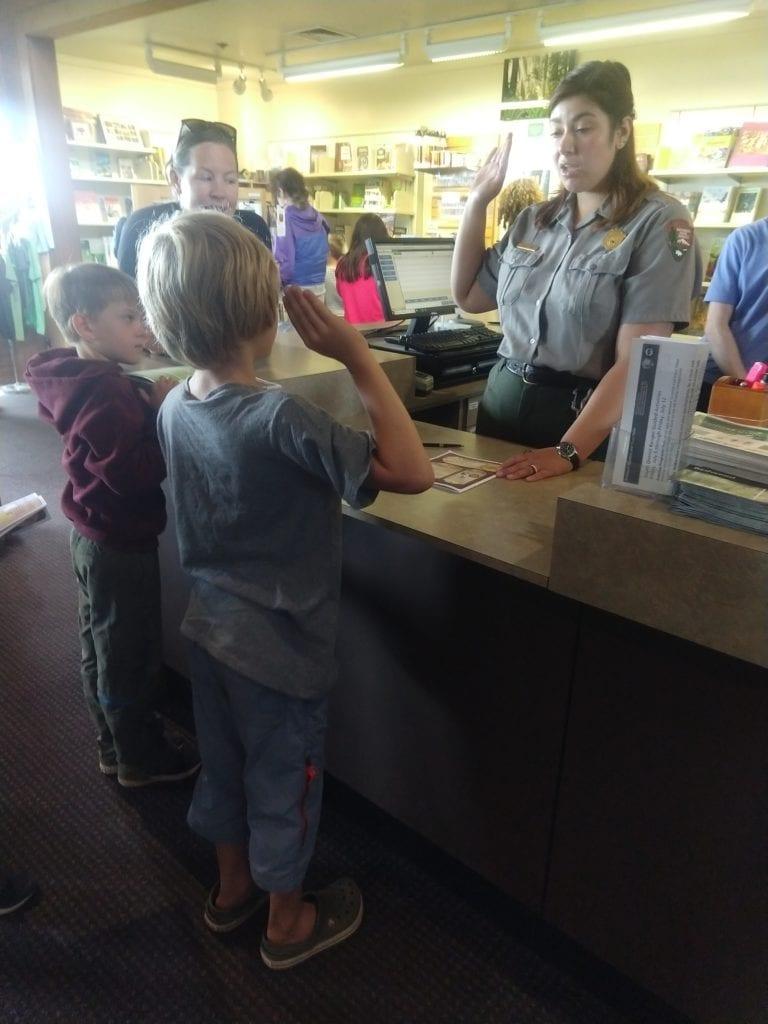 Junior Ranger at Thomas H. Kuchel Visitor Center