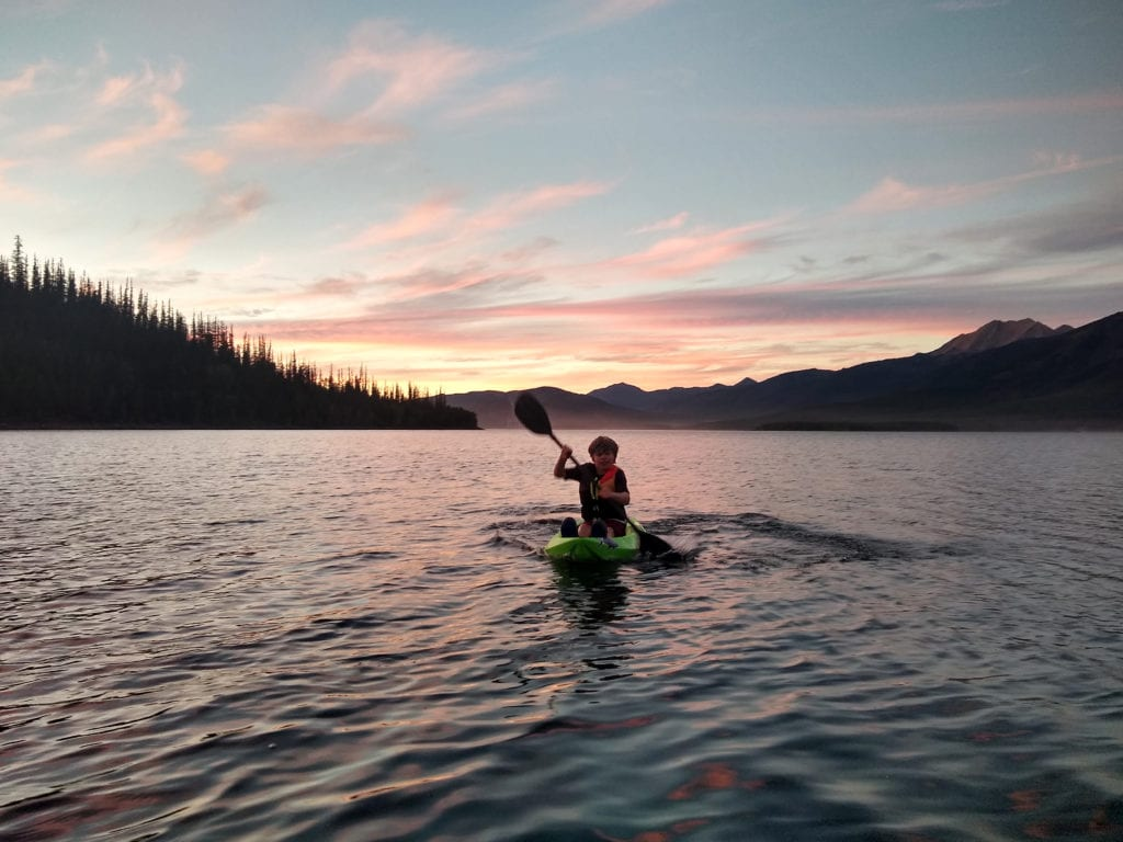 Kayaking at Hungry Horse Reservoir