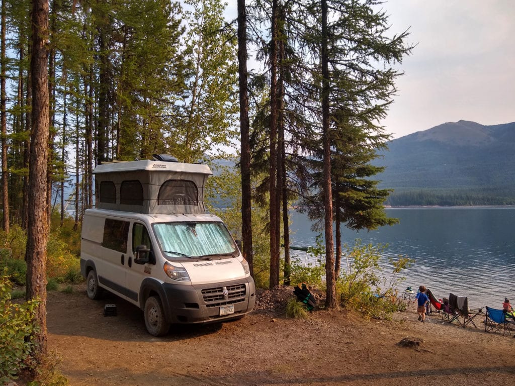 Camping at Hungry Horse Reservoir